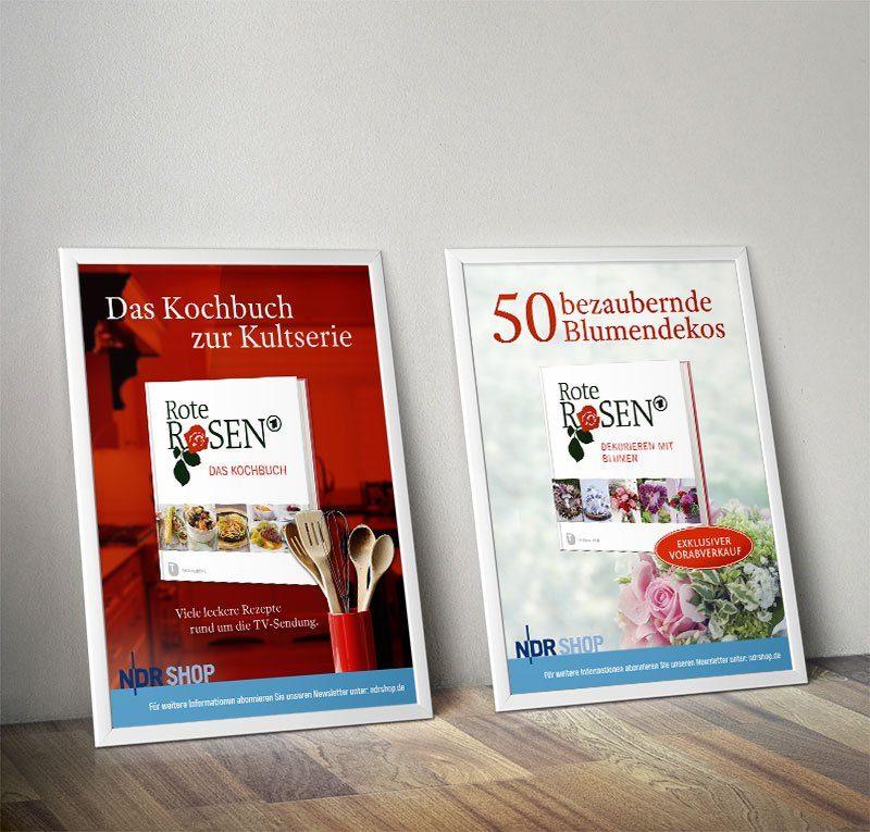 """Werbeaufsteller für """"Rote Rosen"""" Merchandising"""